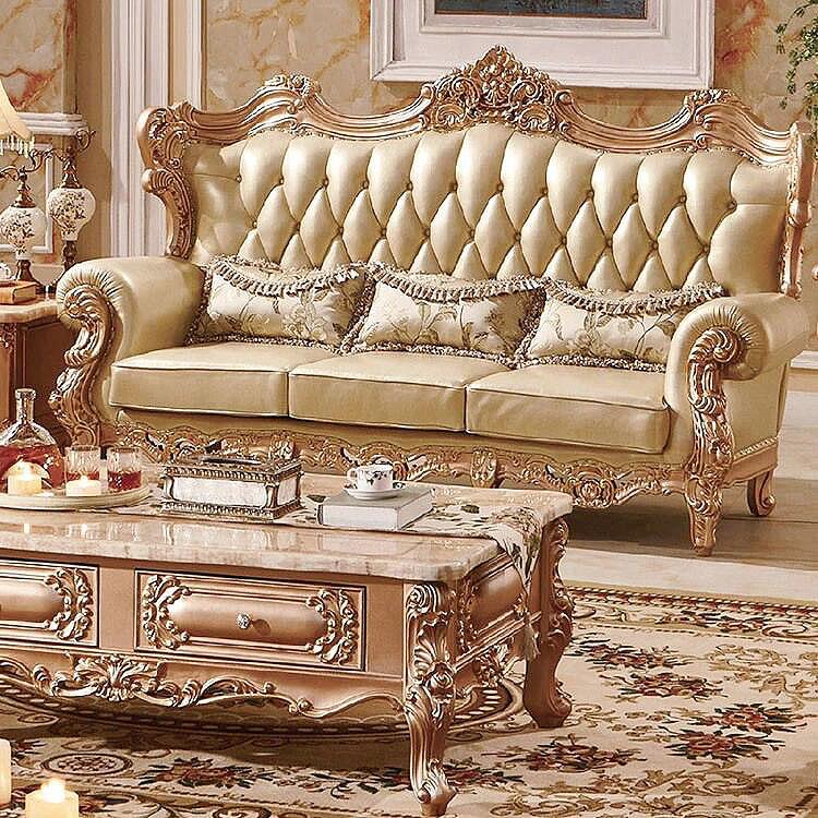 Luxury Dubai Sofa Furniture Gold Sofa Cheap Prices Foshan Home Furniture