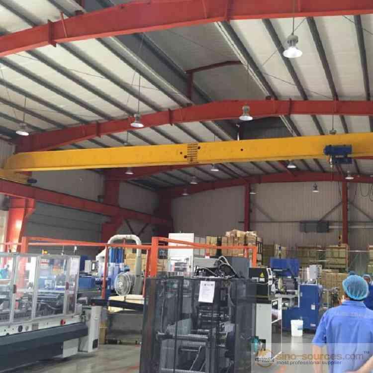 QD Double Girder Hanger Bridge Crane /Overhead Crane 100 Ton