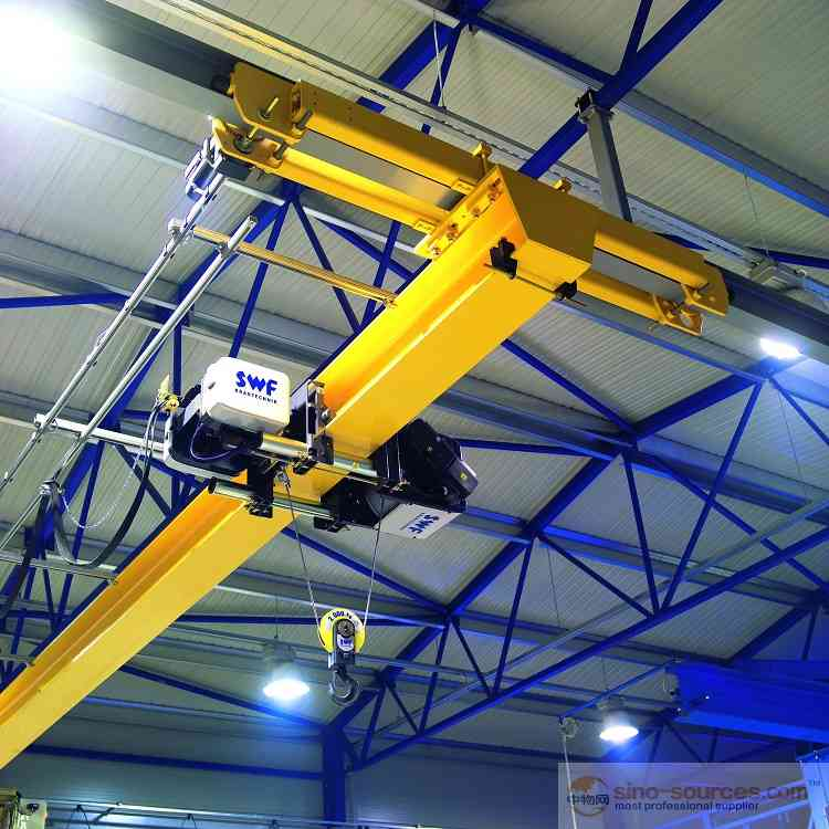 LD Type European Standard Light Duty 2 ton Single Girder Overhead CraneDisplay of double girder over