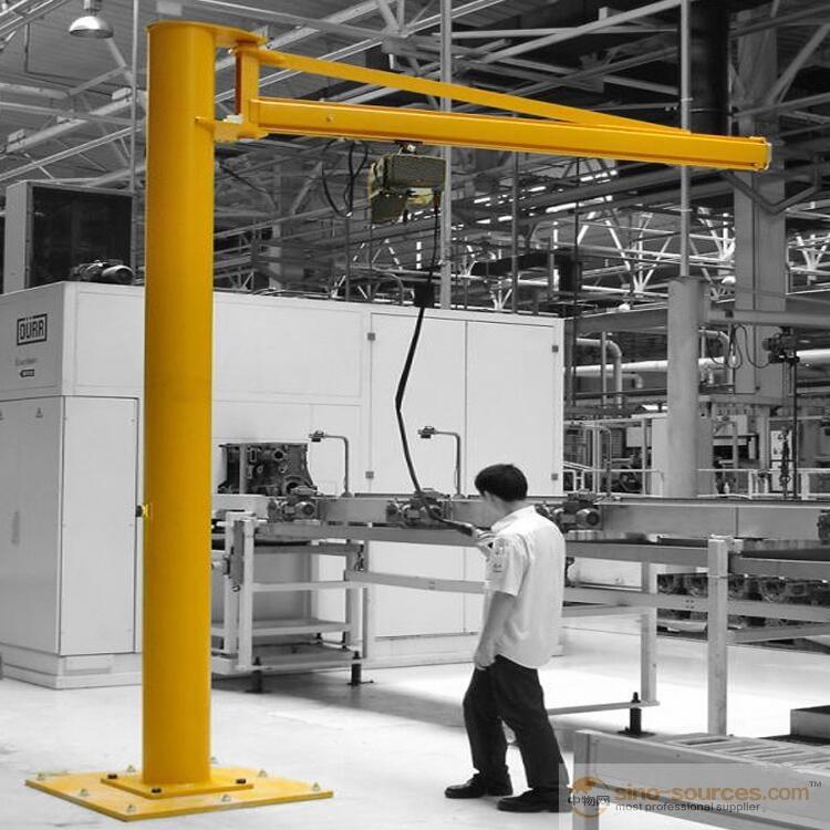 Electric 5 Ton Column Winch Jib Lifting Crane Free Standing Type