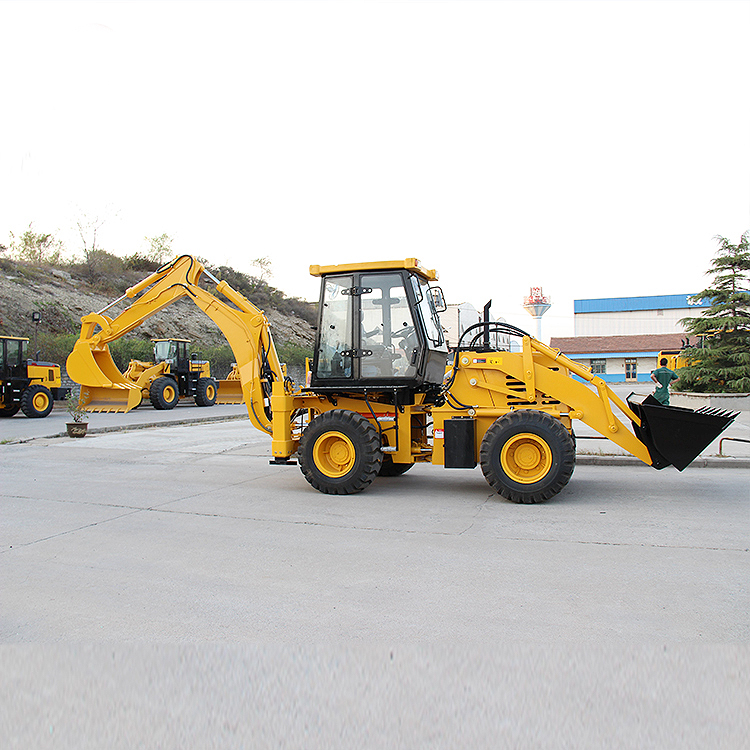 Popular Type 4W Compact Backhoe Loader With Various Attachments