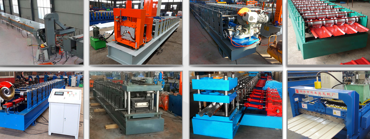 corrugated sheet roofing panel roll forming machine