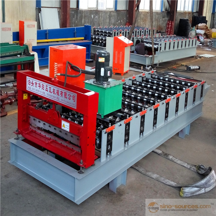 Double Leyars metal zinc IBR profile and corrugated sheet roofing panel roll forming machine