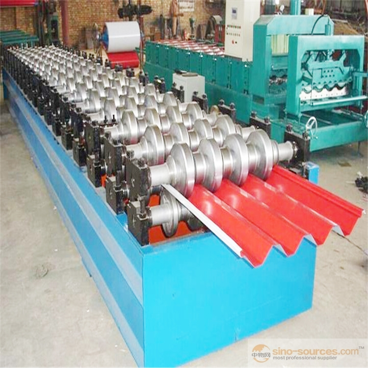 light steel keel Metal furring channel house structure roll forming machine with punching hole
