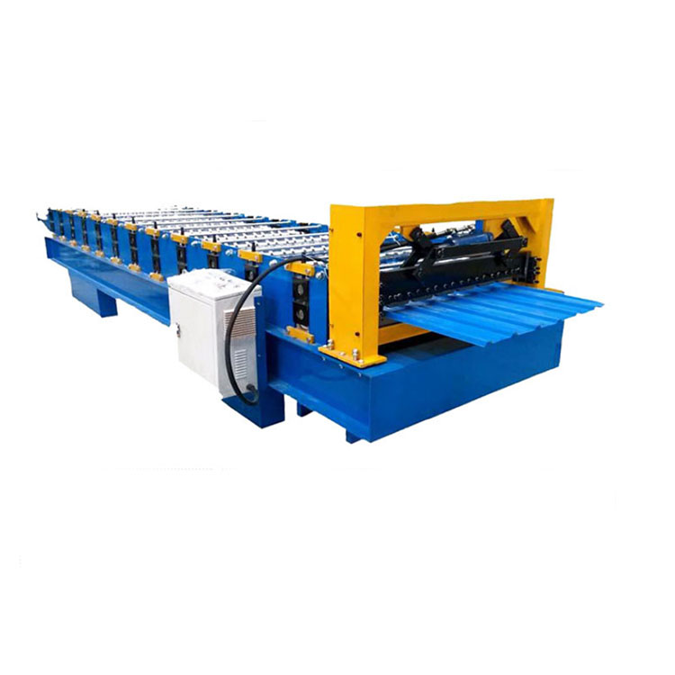 hot dipped galvanized iron steel house roofing panel glazed step tile making machine