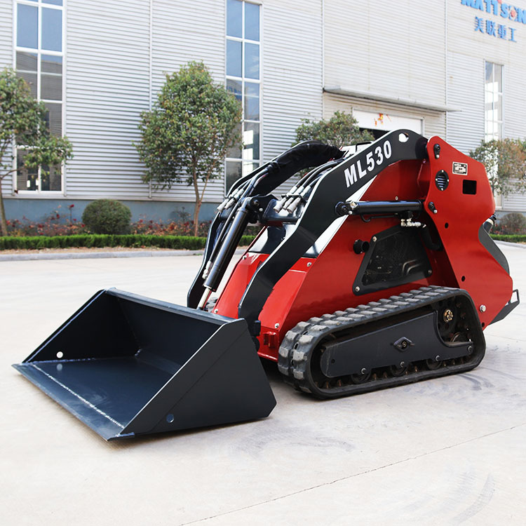 Compact cheap tracked and wheel multi garden mini skid steer loader earth moving digger machinery