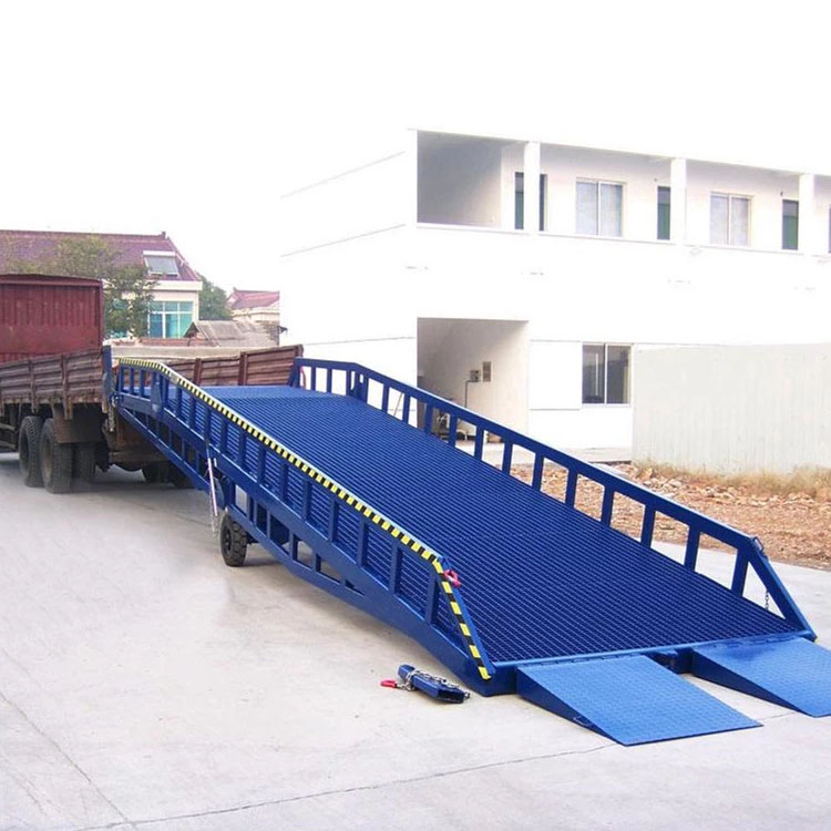 Mobile hydraulic dock yard ramp heavy duty container material handling equipment