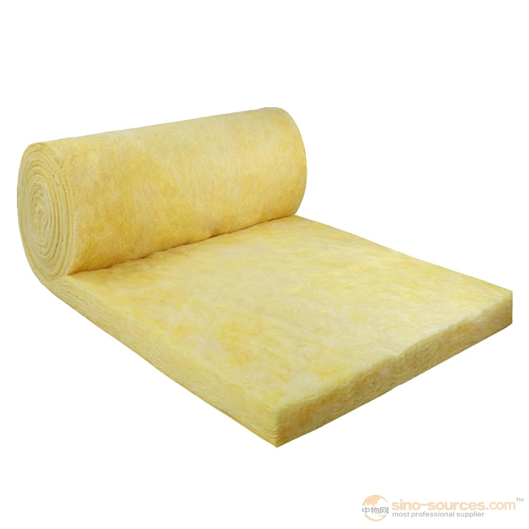 soundproof high heat insulate Glass Wool blanket with Alum foil