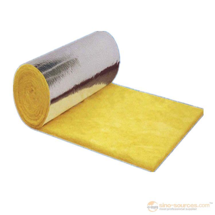 Fireproof yellow fiberglass wool insulation blanket  25mm