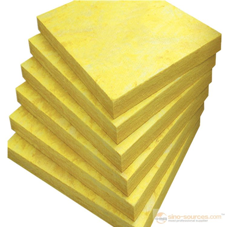 Decorative glass wool sound insulation board for external walls