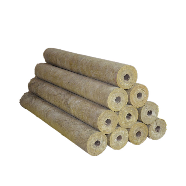 High Density 120kg/m3 Rock Insulation Wool Pipes
