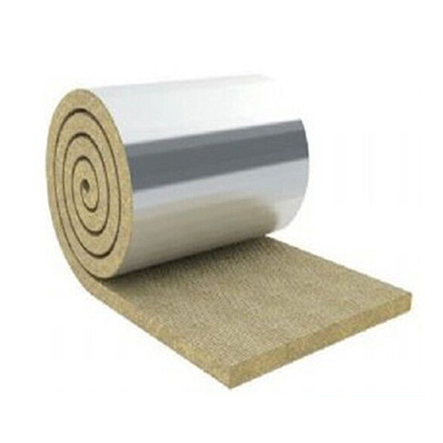 Waterproof and fireproof rock wool blanket construction materials