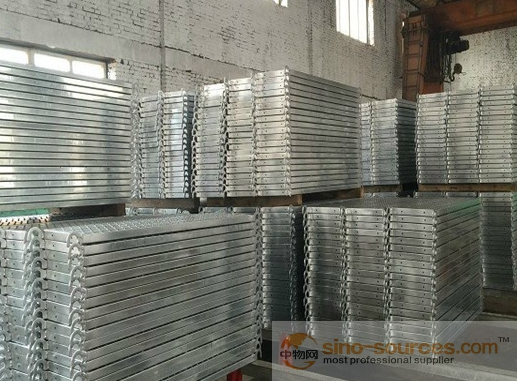 scaffolding steel planks used for construction