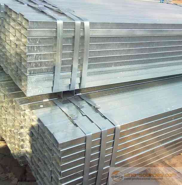 Galvanized Rectangular pipe with Factory Price