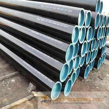 API 5L Gr.B X52 X70 Black Seamless Steel Pipe supplier1