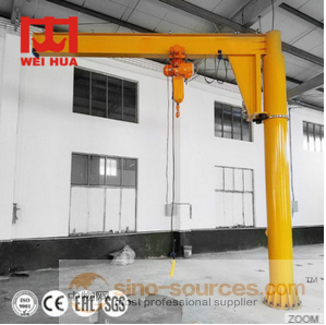 China Made 3T Electric Hoist Operated Cantilever Rail Mounted Crane