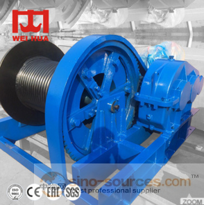 China top 10 ton 100kg high speed hydraulic anchor electric forest cable pulling winch 220v