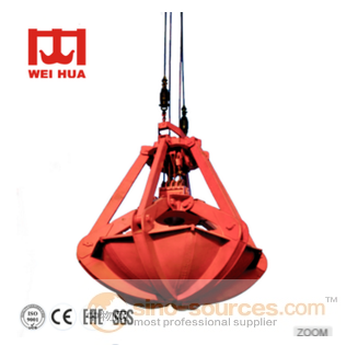 General Purpose And Customized Clamshell Orange Peel Type Hydraulic clamsell grab