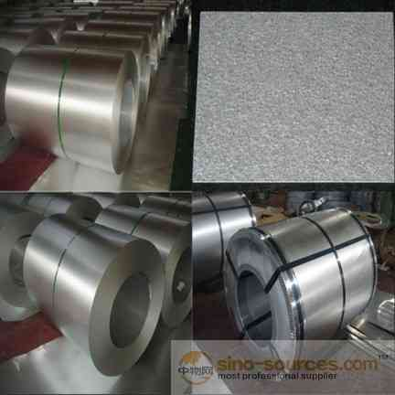 Aluminum zinc coil in rolled
