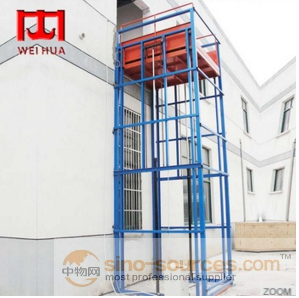 Hydraulic Guide Rail Electric Lifting construction Industrial Platform Elevator