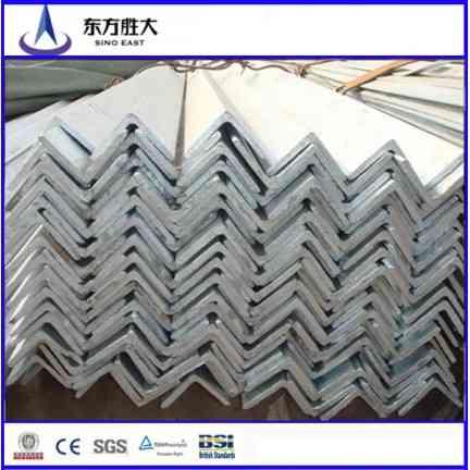 high quality q235 equal unequal black & galvanized steel angle bar
