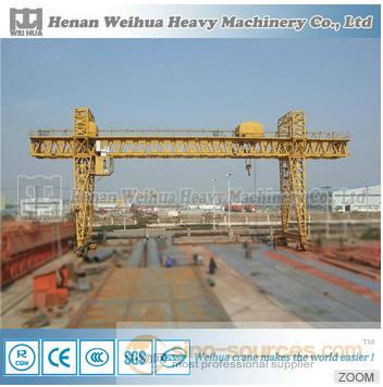 130 Ton monorail gantry crane plans with gantry crane electric wire rope hoist