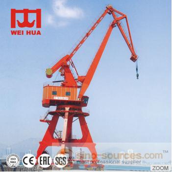 High quality 40ton grab bucket four link portal crane used in port seaside