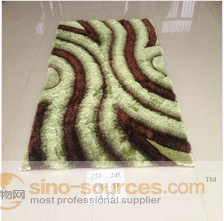 100% shaggy silk hand tufted polyester carpet on sale