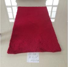 Decorative handmade room use red super shaggy carpet