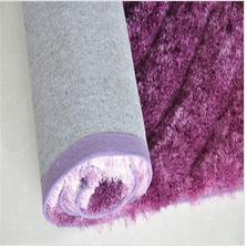 plain silk super shaggy long pile carpet padding