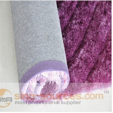 plain silk super shaggy long pile carpet padding