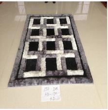 modern design microfiber black and white carpet