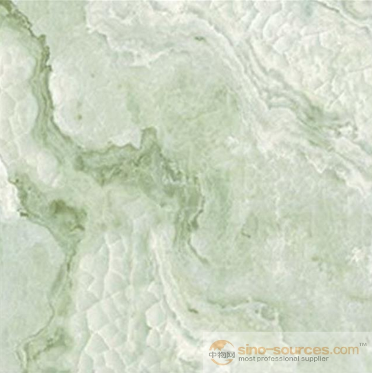China digital Inkjet polished porcelain tiles 60x60 green color