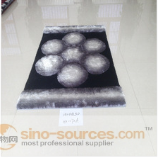 100% polyester soft surface high pile shaggy carpet for home