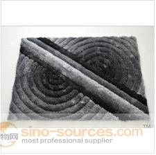 shiny 3D design grey carpet