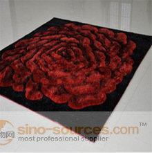 cost price customized 3D design polyester floor shaggy carpet
