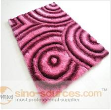 manufacturer 3D design polyester shaggy area rug carpet