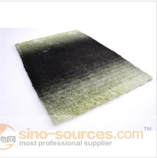 shaggy 100% polyester gradient color carpet