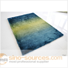 China shaggy polyester rug carpet with color changing