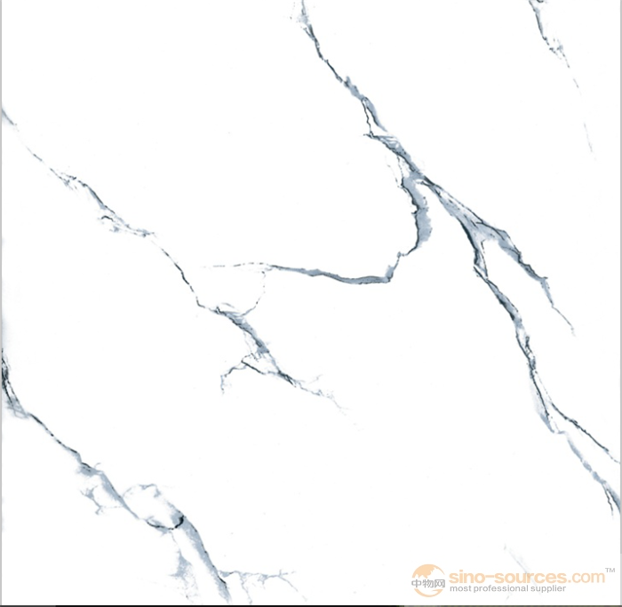 Good price designs of polished glazed carrara white marble porcelain tiles