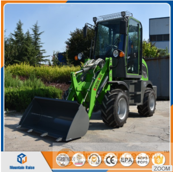 earthmoving machinery mini wheel loader with various attachments