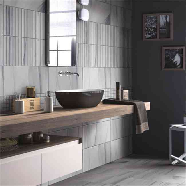 Cheap Prices Glazed Ceramic Grey Wall Tiles Living Room Bathroom