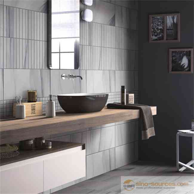 Cheap prices glazed ceramic grey wall tiles living room bathroom wall tiles