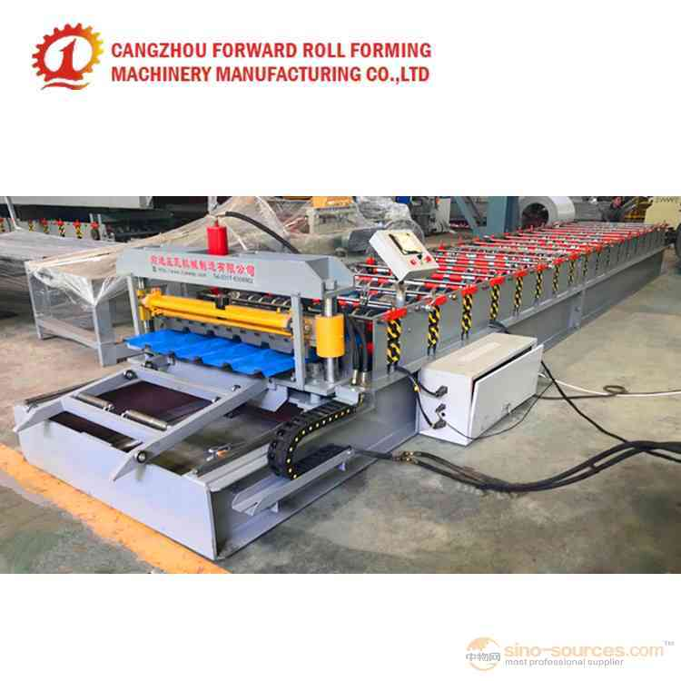 Non Cutting Aluminium profile roll forming machine for six wave trapezoidal shape sheet