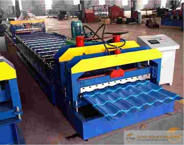 best price hot dipped galvanized iron steel house roofing panel glazed step tile making machine