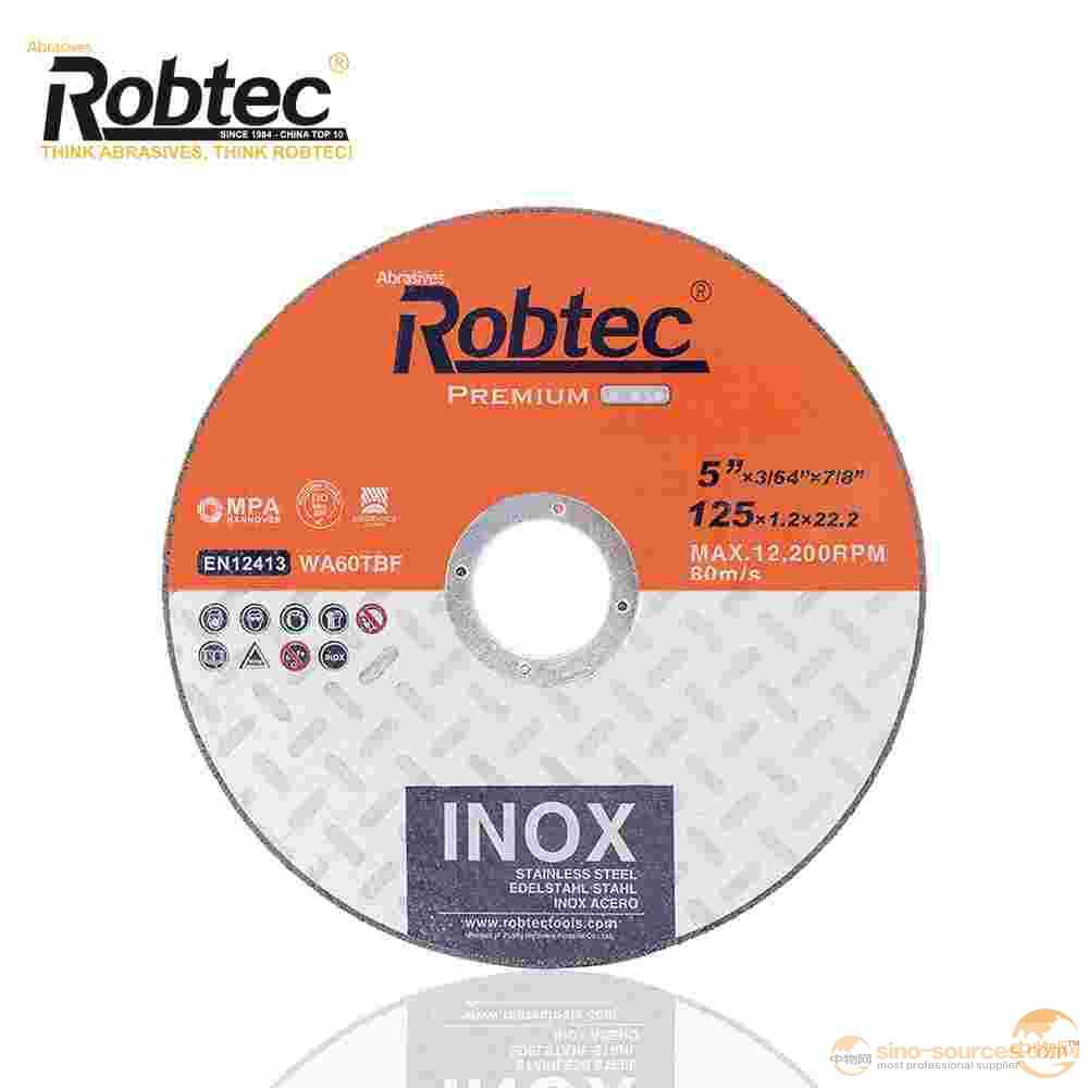 Robtec 125*1.2*22.2mm Cut-off Wheel For Cutting Steel Made In China High Quality EN12413 Standard Resin cutting disc