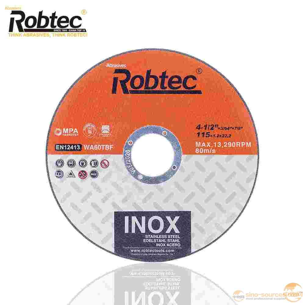 Robtec 2018 Popular disk,extra-thin disc,Abrasive cut-off disc from China,Best quality MPA EN12413