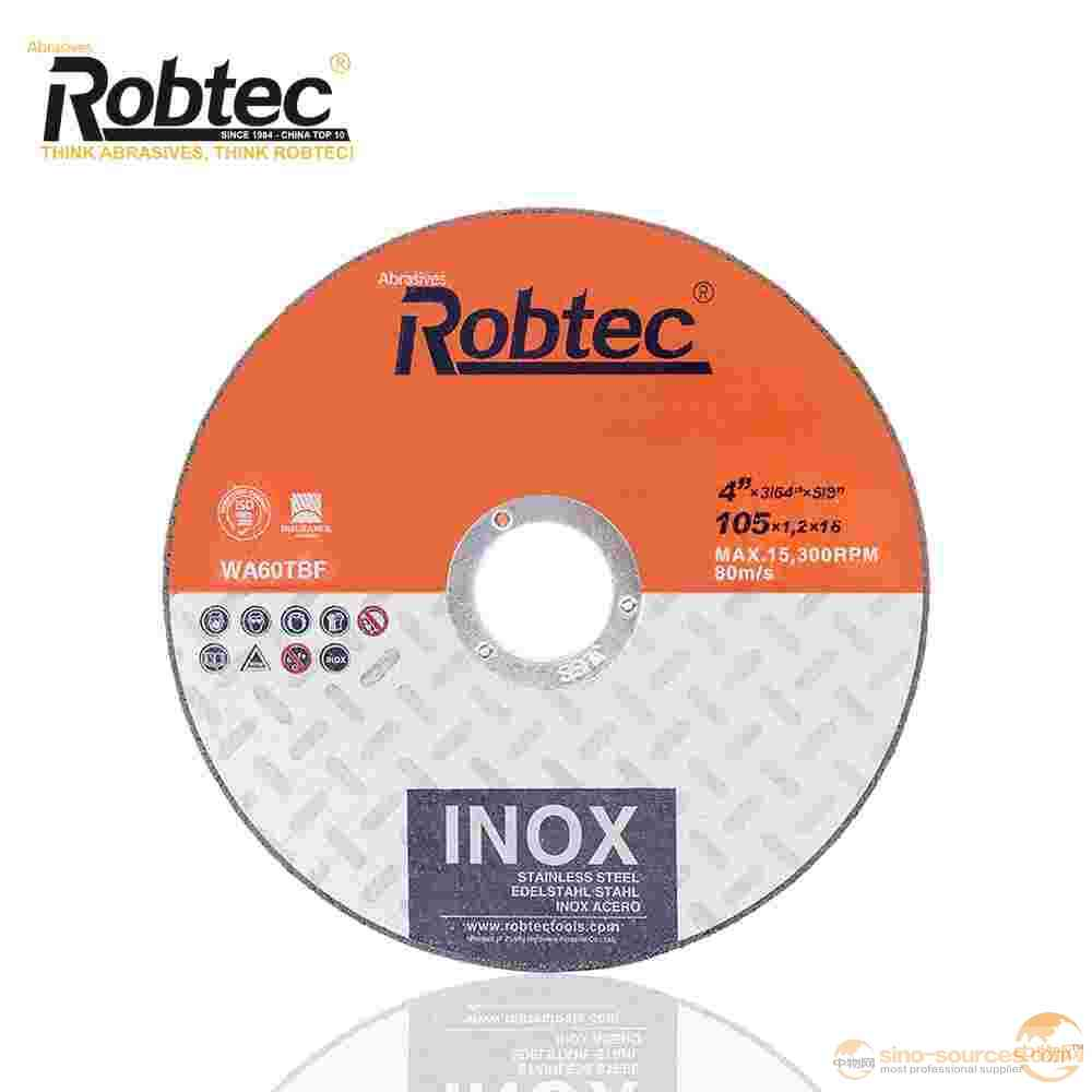 "ROBTEC T41 4""x1/16""x5/8"" Inox Cut Off Wheel"
