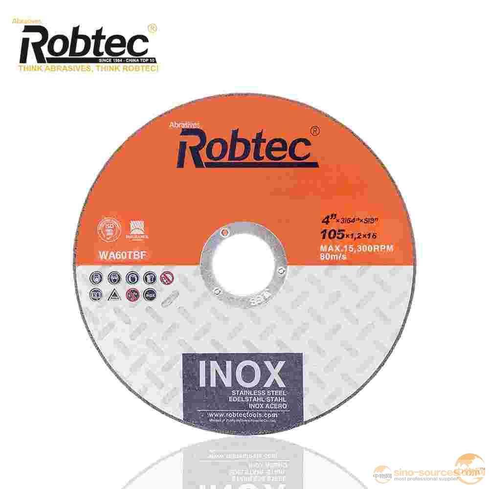 "ROBTEC T41 4""x1/16""x5/8"" Inox Cut Off Wheel"