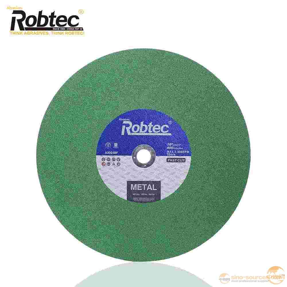 16 inch ROBTEC 400*3.2*25.4mm INOX/stainless steel Cut and Grind Wheel for Special Usage